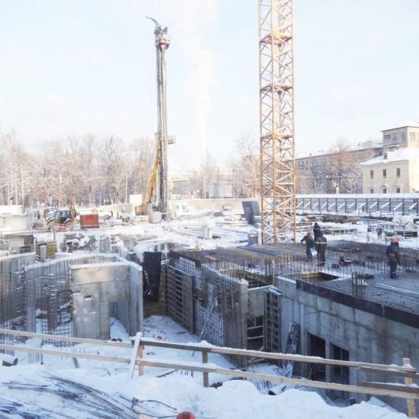 ЖК Усадьба на Ланском ход строительства январь