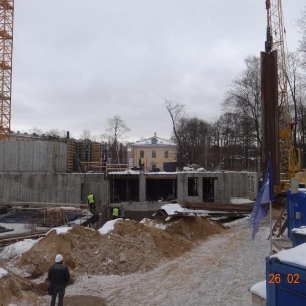 ЖК Усадьба на Ланском ход строительства февраль