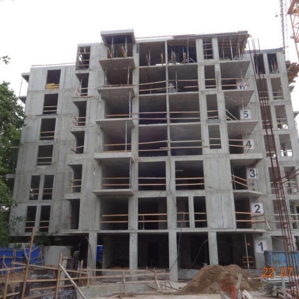 ЖК Усадьба на Ланском ход строительства июль